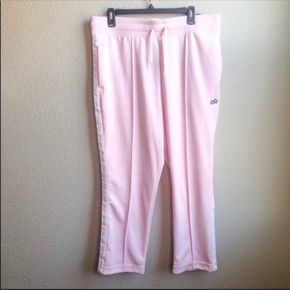 Nike pink standard fit track pants sweatpants